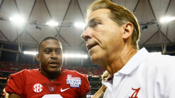 Ups And Downs For Nick Saban In Opener