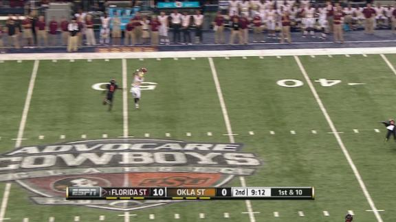 2Q FSU J. Winston pass,to R. Greene for 51 yds for a 1ST down
