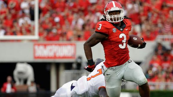 Gurley Gains Georgia-Record Yards In Rout