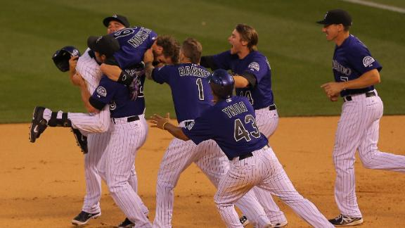 Rockies Walk Off With Win