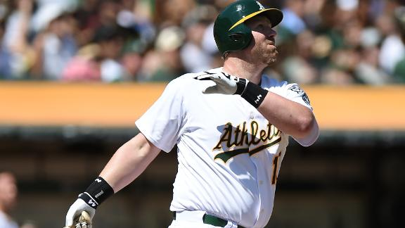 Dunn Homers in 1st At-Bat as A's Top Mariners