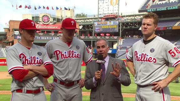 Phillies Relievers Talk No-Hitter
