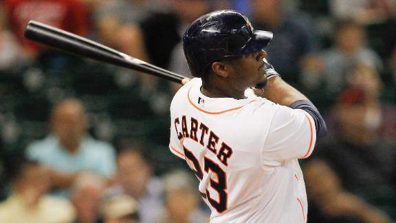 Video - Carter, Astros Power Past Angels