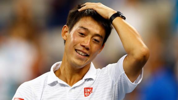Nishikori Wins In Five Sets