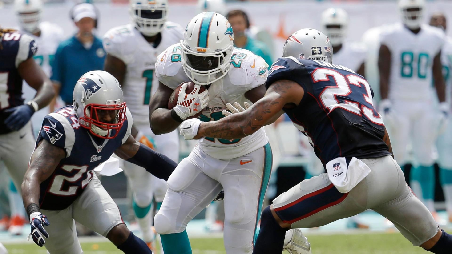 Knowshon Moreno Dolphins Dolphins rally p...
