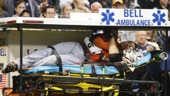 Video - Stanton Carted Off In Marlins' Loss