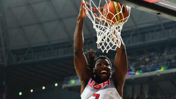 Faried Slams Monster Dunk On Lithuania