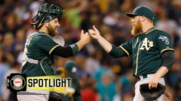 Video - A's Top M's On Walk In 10th