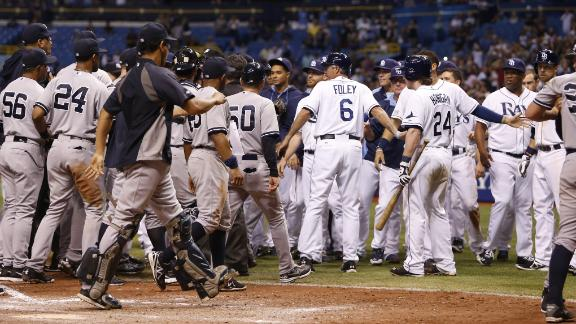 Benches Clear In Rays' Win
