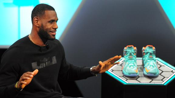 LeBron James unveils new shoe, LeBron 12