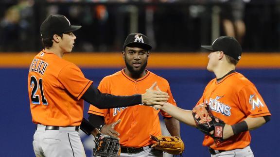 Marlins Edge Mets