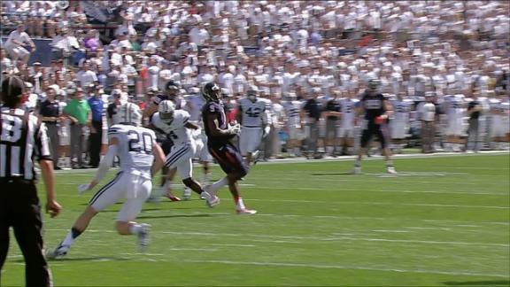 1Q UVA G. Lambert pass,to C. Severin for 28 yds for a 1ST down