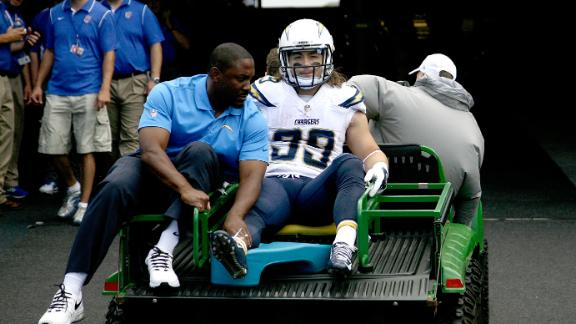 Video - Chargers' Woodhead Out For Season