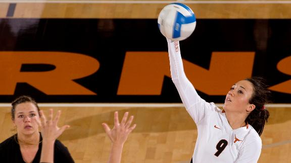 #2 Texas Rallies from 2-Set Deficit in Morgantown