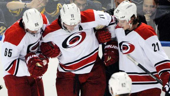 Jordan Staal Breaks Leg In Preseason Game