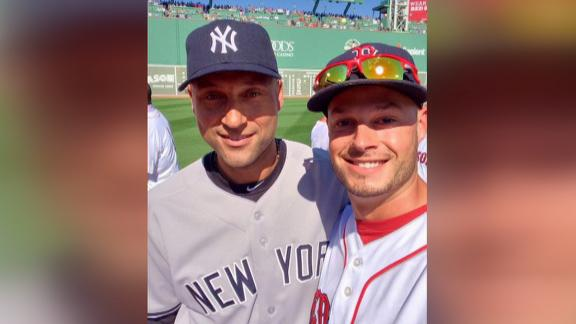 Video - Red Sox Pitcher Takes Selfie With Jeter