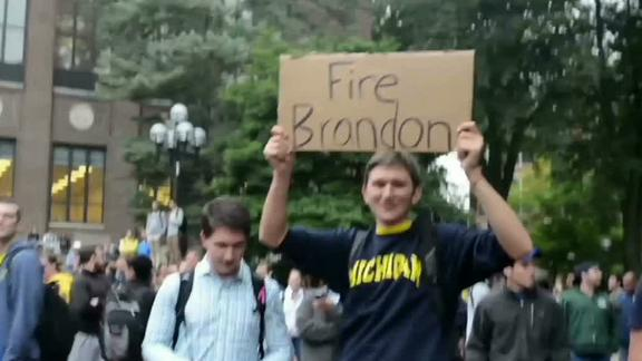Michigan Students, Fans Protest Against AD