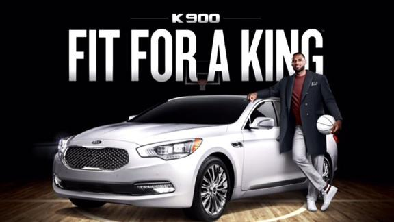 LeBron James Endorses Luxury Kia Sedan