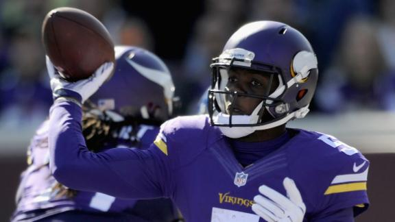 Without adrian peterson vikings running game still a work in progress