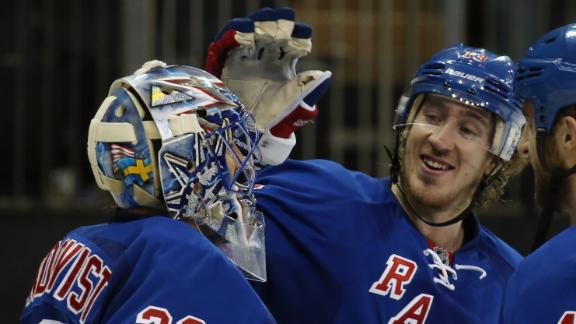 Lundqvist, Rangers Shut Out Sharks