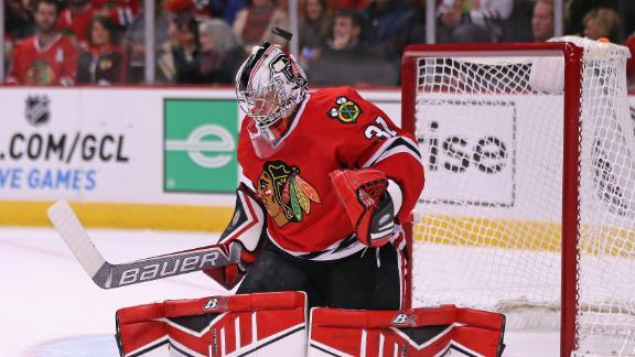 Blackhawks' Crawford (upper-body) will sit