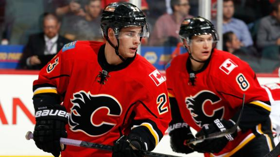 Monahan Scores Twice As Flames Blank Hurricanes