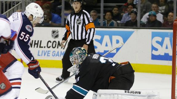 Blue Jackets Edge Sharks