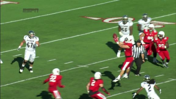 3Q BALL T. Woodson pass intercepted,T. Holder return for 0 yds