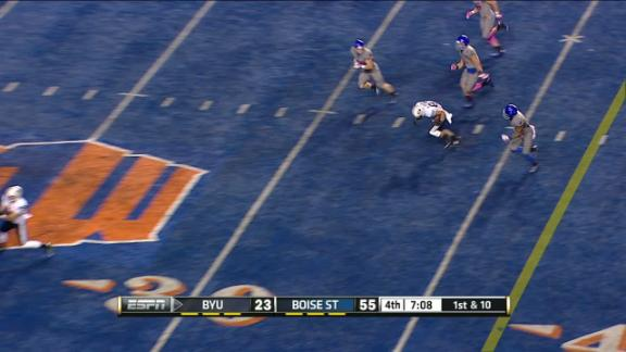 4Q BYU C. Stewart pass,to M. Juergens for 23 yds for a 1ST down