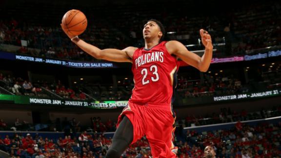 Pelicans' Davis narrowly misses triple-double