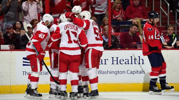 Red Wings Pull Away From Capitals
