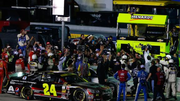 Johnson Wins, Tempers Flare After Race
