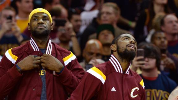 LeBron, Kyrie Exchange Words