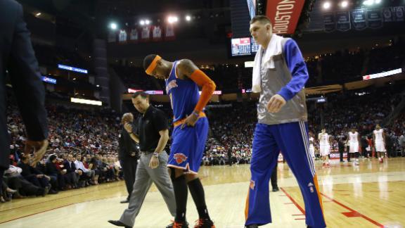 Video - Carmelo Injured In Knicks' Loss