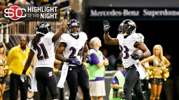 Forsett, Ravens Run Past Saints