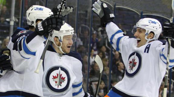 Video - Jets Double Up Blue Jackets