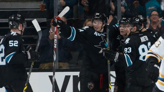 Video - Sharks Rally Past Bruins