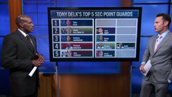 Delk's top 5 SEC point guards
