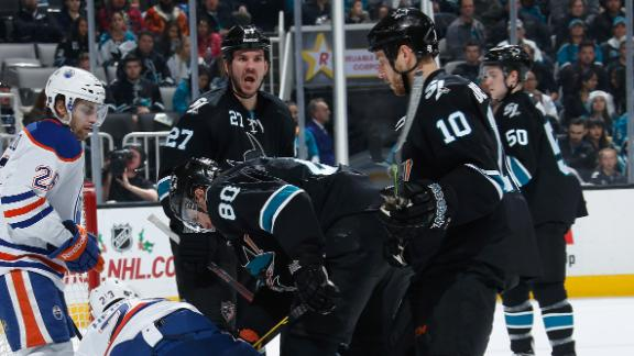 Sharks Rally Past Oilers
