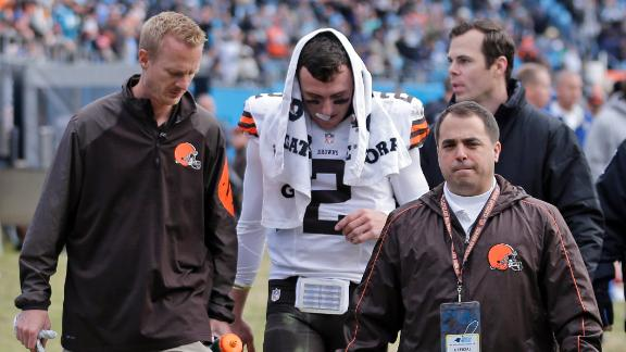 Manziel Injured In Browns' Loss