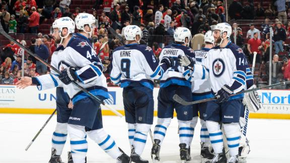 Video - Jets Skate Past Blackhawks