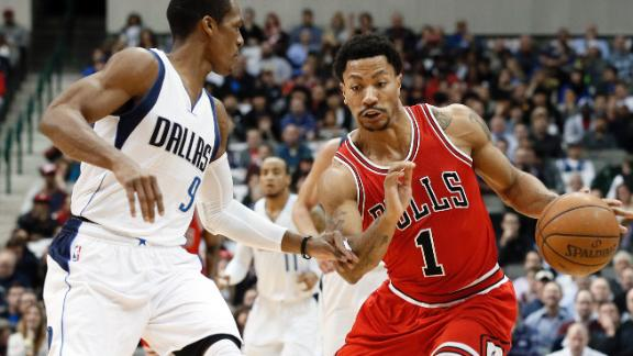 Rose, Bulls  Escape Mavs