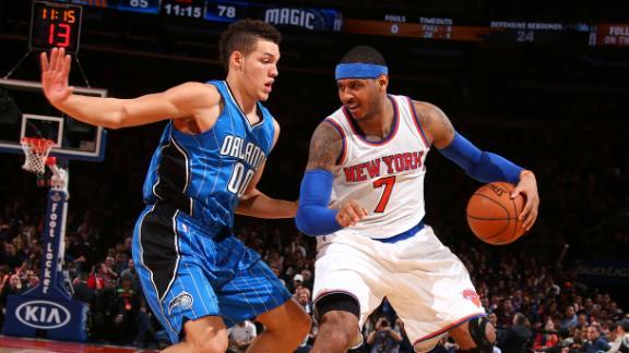 Carmelo Leads Knicks Past Magic