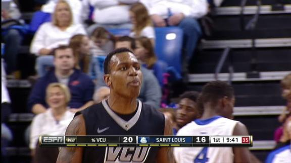 1H VCU T. Graham made Three Point Jumper. Assisted by B. Weber.