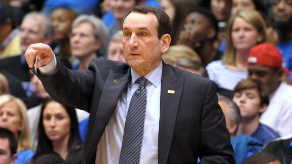 Calhoun Talks Coach K's Milestone