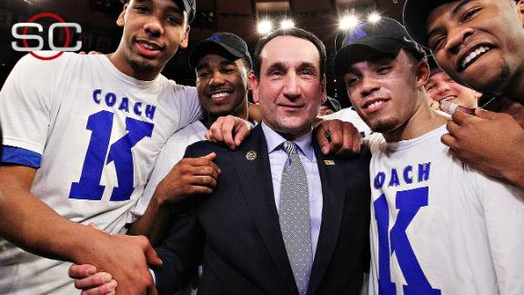 Duke Rallies To Help Coach K To Win No. 1,000