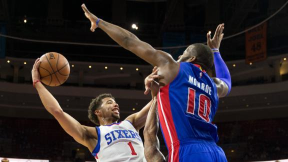 Video - Carter-Williams Leads Sixers Past Pistons