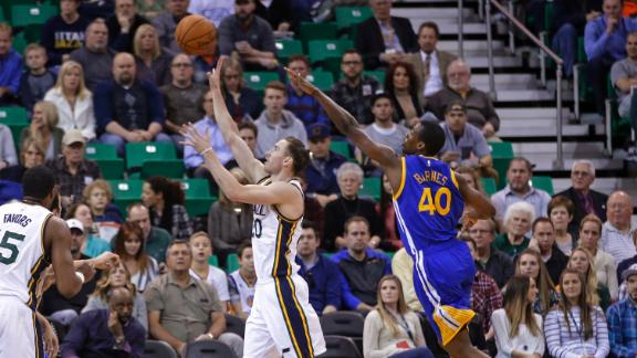 Video - Hayward Leads Jazz Past Warriors