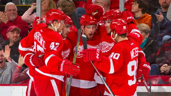 Video - Red Wings Coast Past Islanders