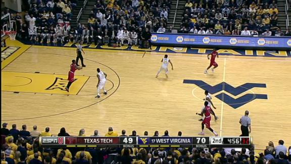 2H WVU D. Miles Jr. made Three Point Jumper. Assisted by G. Browne.